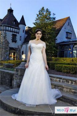 Śliczna suknia ślubna! Rozmiar 42-46
