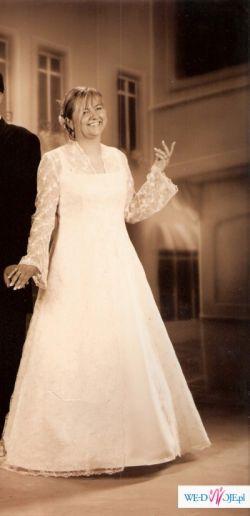 Śliczna Suknia ślubna rozmiar 44-46