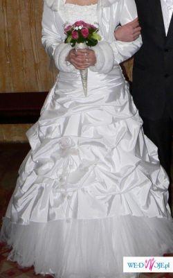 Śliczna suknia ślubna- TANIO!!!