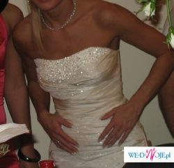 śliczna suknia ślubna w niskiej cenie!