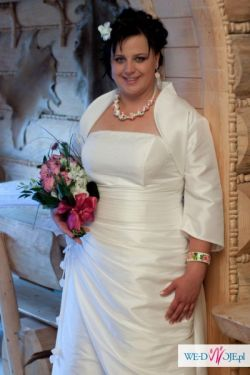 śliczna suknia ślubna w rozmiarze 48