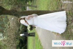 Śliczna suknia ślubna- w większym rozmiarze :)