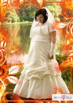 śliczna suknia ślubna własnego projektu