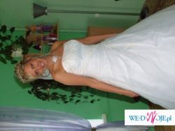 Śliczna suknia ślubna WYSOKIEJ PANNIE MŁODEJ!