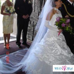 śliczna suknia SOPHIA, biała, 36