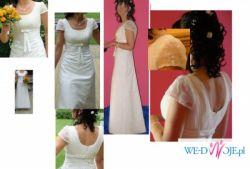 Śliczna suknia w stylu Kristi rozm.38 Jeśli nie chcesz wyglądać jak śnieżna kula