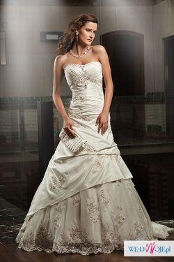 Śliczna Suknia z Salonu Annais*2011*34-36*-50% OFF