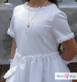 Śliczna wyjątkowa sukienka komunijna +dodatki!