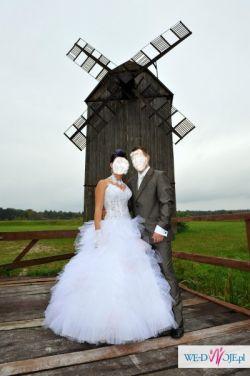 """Śliczna """"z pazurem"""" suknia ślubna,jedyna taka, niepowtarzalna!!!"""