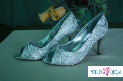 Sliczne biało srebrne buty