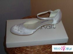 śliczne butki z koronką do ślubu