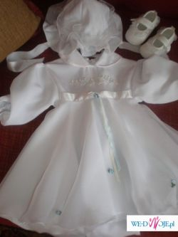 Śliczne ubranko do chrztu i nie tylko dl adziewczynki 4-6miesiecy