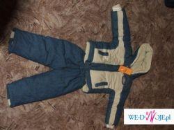Śliczny komplecik zimowy:kurtka + spodnie NOWY!!!!!Tanio!