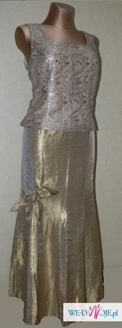 śliczny kostium 3-częściowy XL złoto