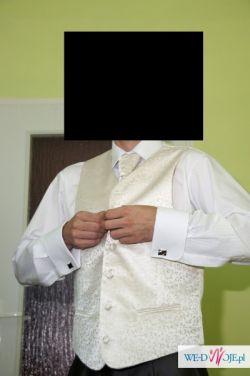 ślubna kamizelka + krawatka + butonierka