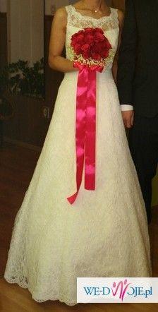 Ślubna suknia koronkowa-sprzedam