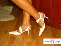 Ślubne buciki, ecru, rozm. 38 skóra