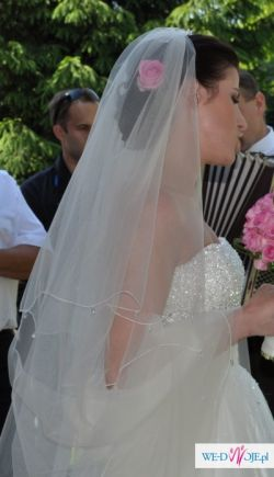 Śmietankowa suknia slubna Ruth Madonna 36/38 + welon