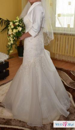 śmietankowa Suknia ślubna Syrenka Ms Moda 3840 Suknie ślubne