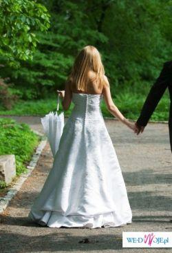 śmietankowo - biała suknia Annais Bridal 1000 zł + gratisy