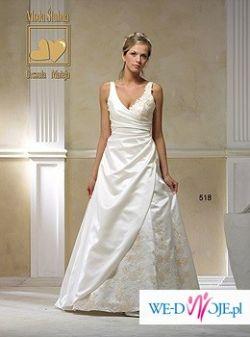 Śnieżn- białą suknię ślubną(42-44)+bolerko+welon=1250zł