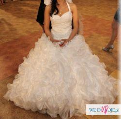 śnieżno-biała suknia ślubne rozm. 36