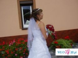 Śnieżnobiała i niepowtarzlnie piękna suknia ślubna do sprzedania!!!
