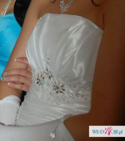 Śnieżnobiała suknia 34-36