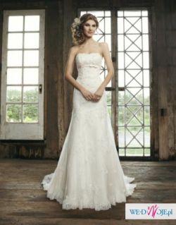 Śnieżnobiała suknia Sincerity Bridal 3664 GRATISY