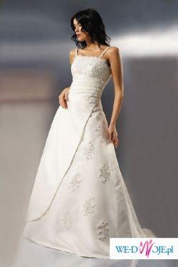 Śnieżnobiała suknia ślubna Agnes 2007