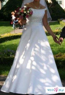 Śnieżnobiała Suknia Ślubna Agora 36/38 na wysoką!