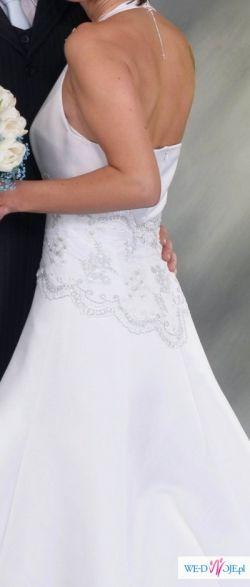 snieznobiala suknia slubna rozmiar 36