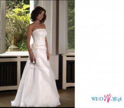 Śnieżnobiała suknia ślubna z kolekcji Biancaneve