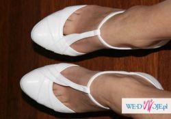 śnieżnobiałe buty ślubne