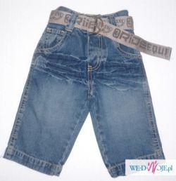 """Spodenki jeansowe 6-9 miesięcy """"Cherokee"""""""