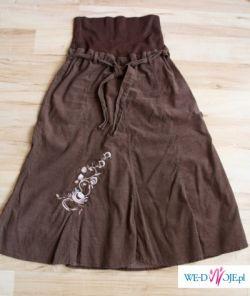 Spódnica sztruksowa z bawełnianym pasem