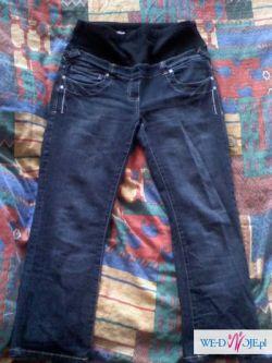 Spodnie ciążowe z pasem na brzuszek,stan idealny !