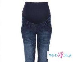 Spodnie na ciążę panel dżins 46 nowe