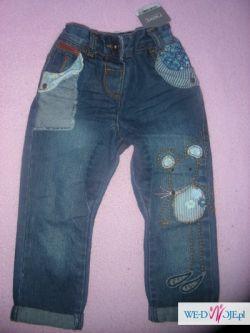 spodnie nowe next myszka 92