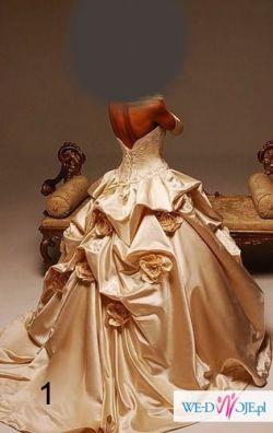 Sprzadam suknię ślubną koloru kości słoniowej