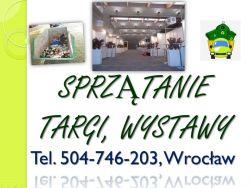 Sprzątanie obsługa imprezy, cena tel 504-746-203, koncert, targi, event, Wrocław.