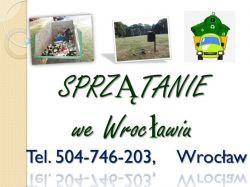 Sprzątanie terenu, cena tel 504-746-203, trawnika, wywóz śmieci, Wrocław