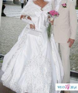 Sprzdam suknie ślubną Mrągowo Przepiękna Włoska 1000szt. Swarovskiego Italy