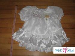 Sprzedam 3 NOWE sukienki białe okazjonalne rozmiar 74