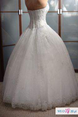 Sprzedam bajeczną suknię ślubną Demetrios 933..