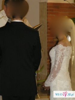 Sprzedam bajecznie romantyczną suknię ślubną model White One 424