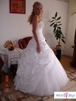 Sprzedam bardzo efektowną i elegancko prezentującą się suknię ślubną