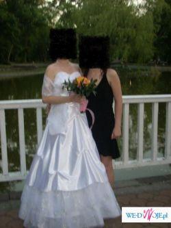 Sprzedam bardzo tanio białą suknię ślubną