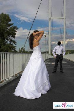Sprzedam białą jednoczęściową suknię Sposabella
