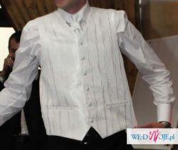 Sprzedam białą kamizelkę ślubną